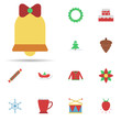 Bells, christmas 2 colored line icon. Universal set of christmas for website design and development, app development