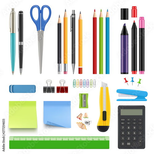 School stationery Fototapete