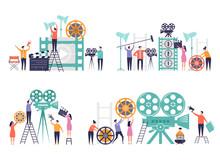 Movie Production Concept. Flat...