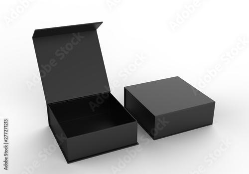 White blank hard cardboard box for branding presentation and mock up template, 3d illustration Tapéta, Fotótapéta