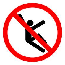 Injury Hazard Climb Hazard Symbol Sign, Vector Illustration, Isolate On White Background Label .EPS10