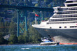 Cruise Ship Leaving Vancouver Harbor