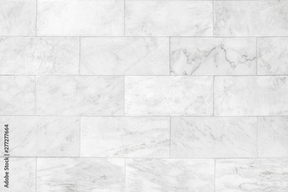 Fototapety, obrazy: Marble tiles seamless wall texture patterned background.