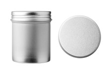 Round Metal Can Container Isol...