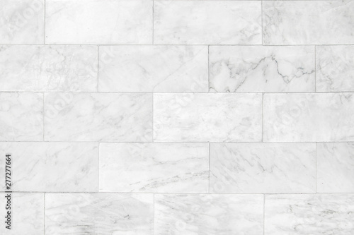 Fotografiet Marble tiles seamless wall texture patterned background.