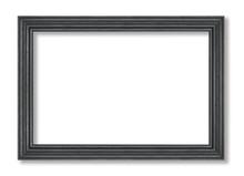 Black Frame Isolated On White ...