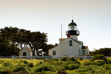 Point Pinos Lighthouse Is An Emblem Of Pacific Grove, California. Point Pinos Lighthouse Was Lit On 1855, To Guide Ships On The Pacific Coast Of California. It Is The Oldest Operating Lighthouse.