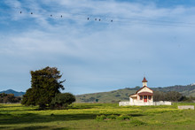 Old Schoolhouse In San Simeon,...