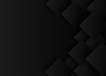 Abstract. Black Square Shape Background ,light And Shadow .Vector.