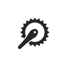 Outline Icon - Bicycle Crank Set