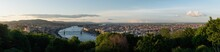 Panoramic Budapest City View In Summer, Hungary. Aerial Landscape