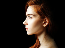 Beauty Portrait Of Redhead Wom...
