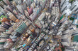 Top down view of Hong Kong apartment building