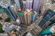 Top down view of Hong Kong residential district