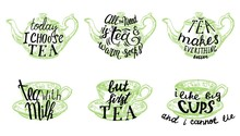 Tea Quotes Hand Drawn Letterin...