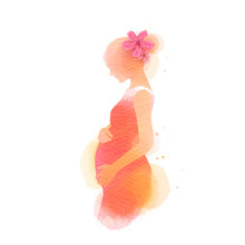 Pregnant Woman Silhouette Plus...