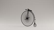 Black Penny Farthing Bicycle 3d Illustration 3d Render