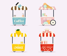 Street Food Cart. Urban Landsc...
