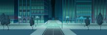 Crossroad In Night City, Empty...
