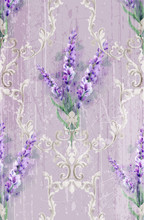 Damask Ornament And Lavender V...