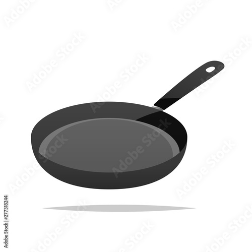 Leinwand Poster Frying pan vector isolated illustration