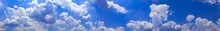 Panorama Blue Sky With Tiny Cl...