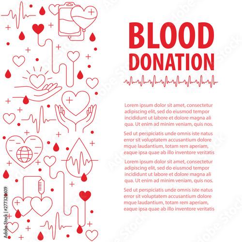 Cuadros en Lienzo  Donation Blood template