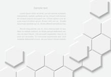 Abstract White Hexagonal Back...