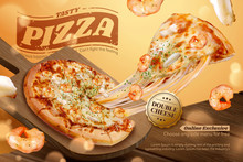 Stringy Seafood Pizza Ads