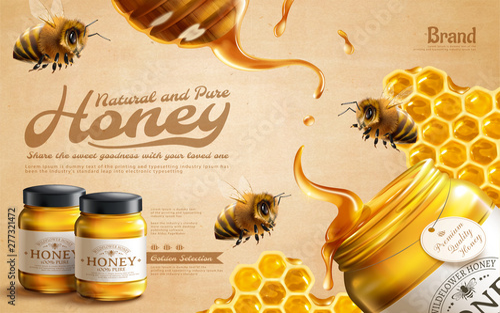 Photo Pure honey ads