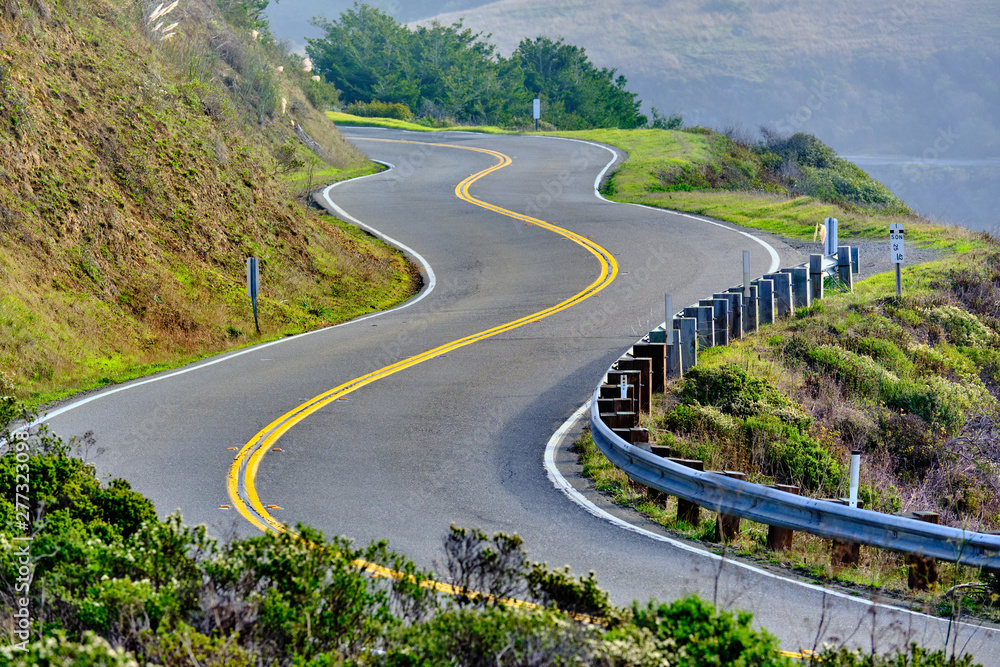 Fototapety, obrazy: Highway 1 on the pacific coast, California, USA.