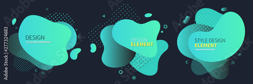 Canvastavla  Set of abstract modern graphic elements