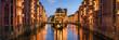 Leinwandbild Motiv Speicherstadt panorama in Hamburg, Germany