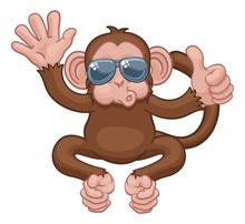 A Monkey Cool Cute Happy Carto...