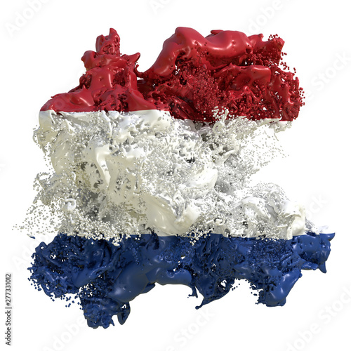 Photo Holland flag liquid