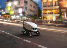 Self-driving Delivery Robot Co...