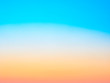 Abstract blurred blue, yellow and orange background. Summer concept