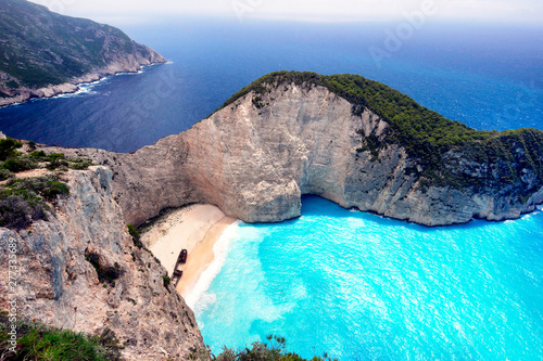 Shipwreck Beach, Zante, Greek Islands Wallpaper Mural
