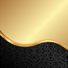 Golden Background With Old-fas...