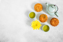 Mooncakes, Blue Teapot, Yellow...