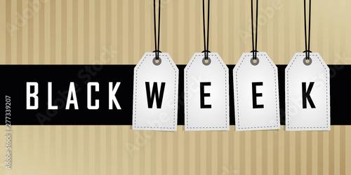 Obraz black week promotion hanging label vector illustration EPS10 - fototapety do salonu