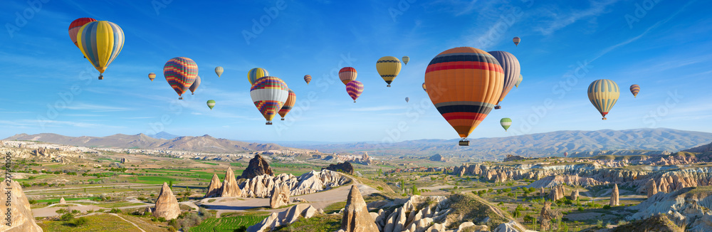 Fototapety, obrazy: Panoramic view of unusual rocky landscape in Cappadocia, Turkey.