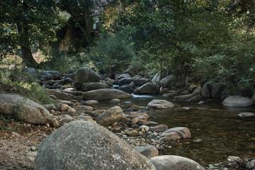 Naklejka na ściany i meble view of river and ridges