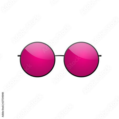 Background Sun White Glasses IconPink Isolated Sunglasses Round T3c5FulK1J