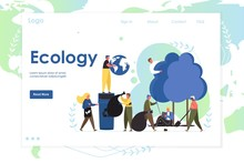 Ecology Vector Website Landing...