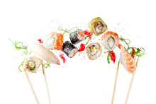 Seamless Pattern With Sushi. F...