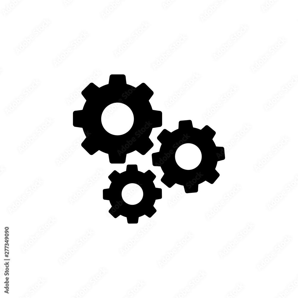 Fototapeta Settings gears icon logo