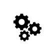 Leinwandbild Motiv Settings gears icon logo