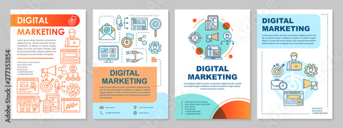 Photo  Digital marketing brochure template layout