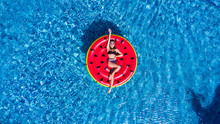 Top View Of Young Woman Relaxi...